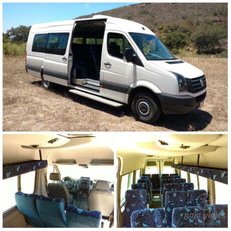 Transporte Van Crafter o Sprinter, exterior e interior. Traslados en Baja California, Mexico.