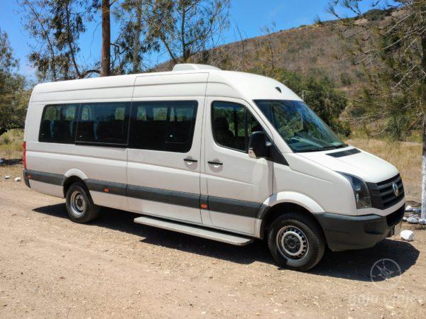 Servicio de Transporte en Van Crafter o Sprinter para 19 pasajeros. Traslados en Tijuana y Ensenada, Baja California.