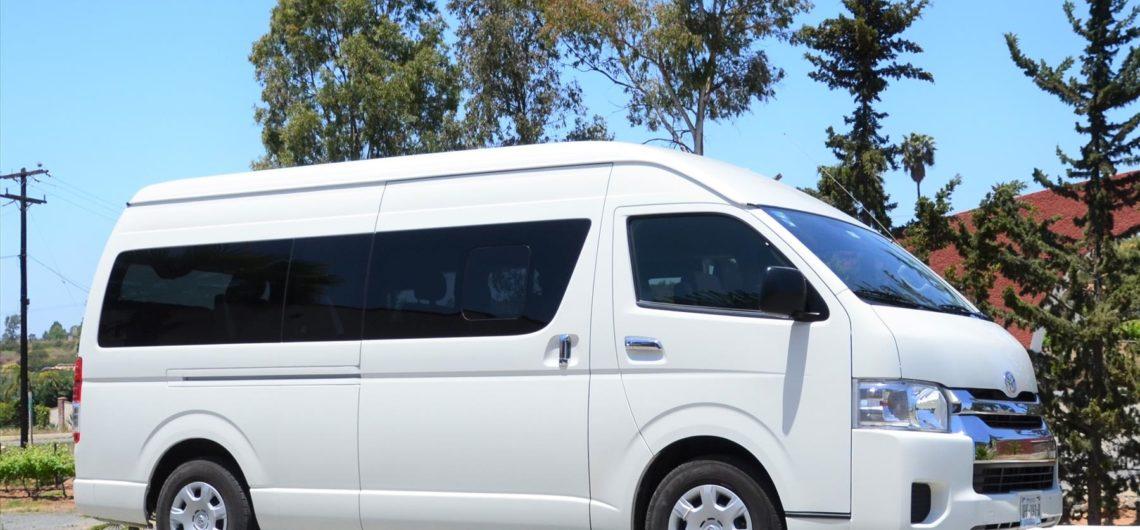 Van Toyota Hiace 2019, Transporte con Chofer de Tijuana a Valle de Guadalupe