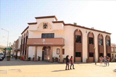 Edificio de gobierno en el Centro Histórico de Tecate